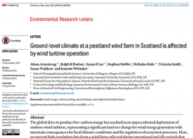 Ground-level climate at a peatland wind farm in Scotland is affected by wind turbine operation