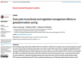 Resolved the microclimatic variation in a solar park and implications for carbon cycling