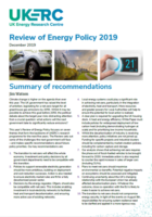 UKERC Review of Energy Policy 2019: Ensuring net-zero is a win-win for the climate and the environment